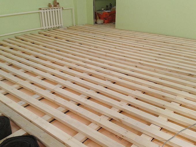 Лаги деревянного пола