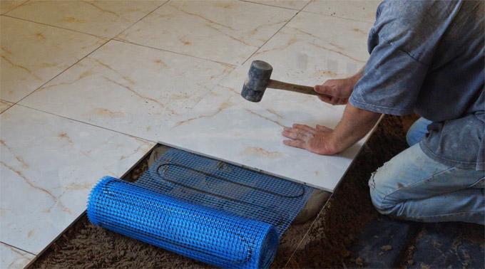 Карбоновый теплый мат под плитку