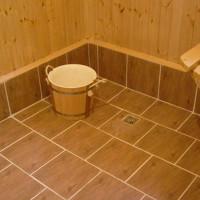 Бетонный пол в бане