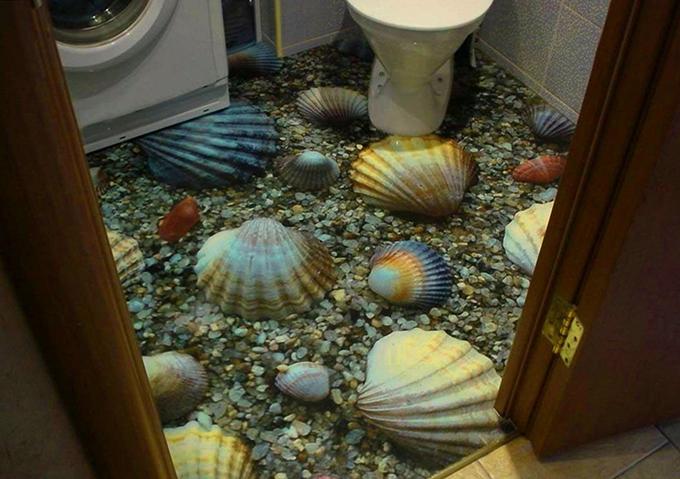 Заливные полы своими руками в туалете