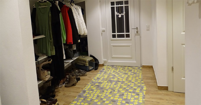 Пол в коридоре ламинат и плитка фото
