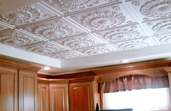 Декоративная потолочная плитка