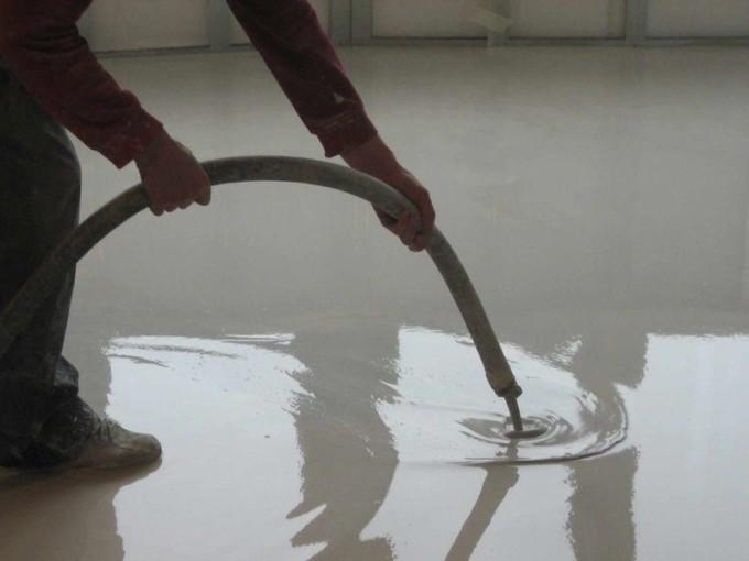 Наливной пол из цемента и песка своими руками 71