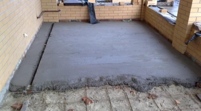 Слои бетонного пола