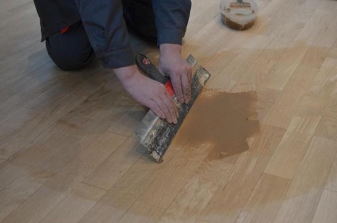 Шпаклевание деревянного пола
