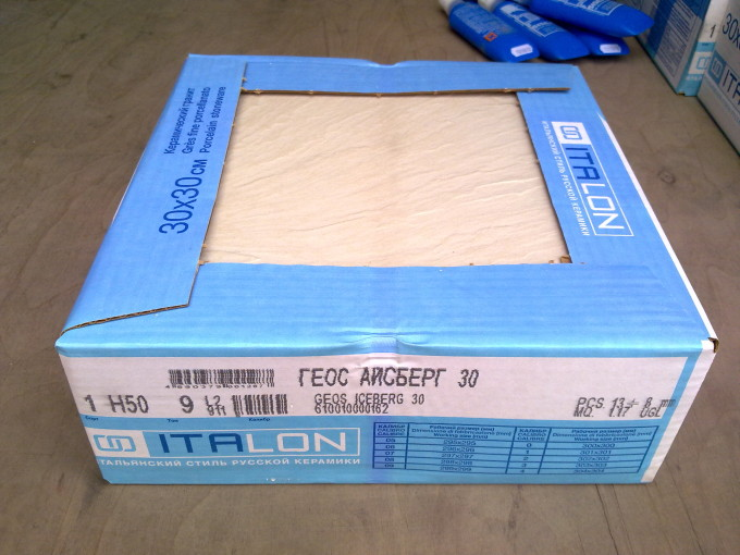 Керамическая плитка в коробках