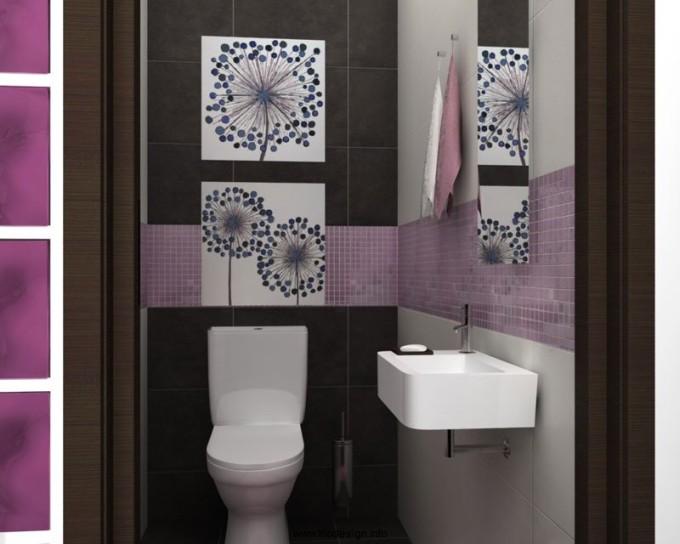 Плитка в туалете - дизайнерское решение