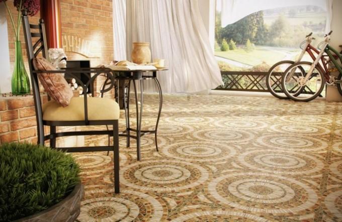 Мозаичная керамогранитная плитка отличается высокой степенью прочности