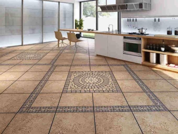 Минеральная плитка подойдет практически к любому дизайну кухни