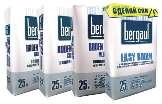 Компания Bergauf для теплых полов выпускает разные виды клеящих смесей